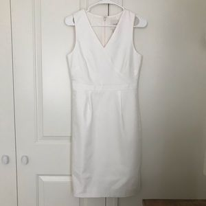 J. Crew Sheath Dress - Ivory / White NTW